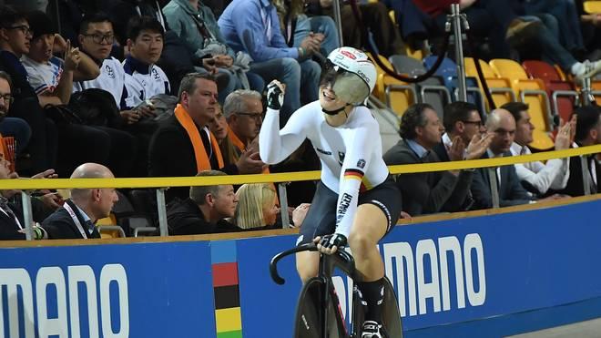 Kristina Vogel holt bei der Bahnrad-WM bereits ihren zehnten WM-Titel