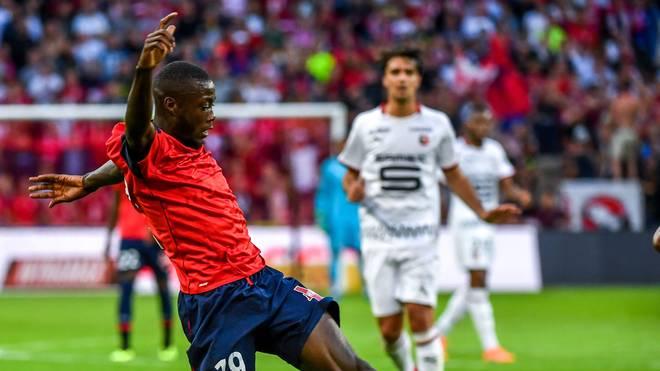 Nicolas Pepe geht für den OSC Lille in der Ligue 1 auf Torejagd