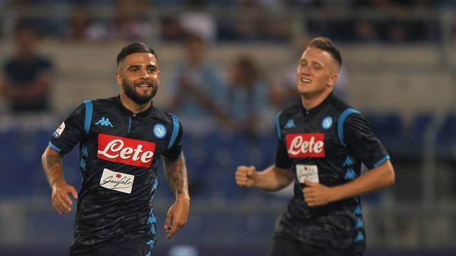 Lorenzo Insigne (l.) erzielte bei Ancelottis Debüt das Siegtor für Neapel