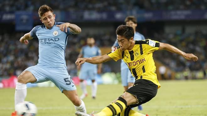 Pablo Maffeo (l.) wurde in der Jugend von Manchester City ausgebildet