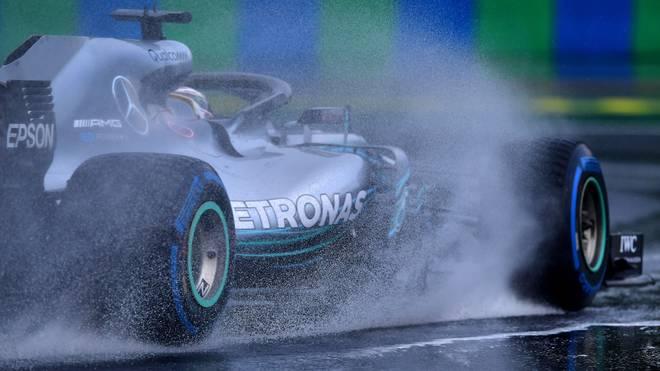Beim Qualifying zum Großen Preis von Ungarn hatten die Fahrer mit starkem Regen zu kämpfen