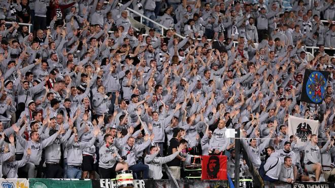 Eintracht Frankfurt war mit zahlreichen Anhängern in Zypern vorhanden