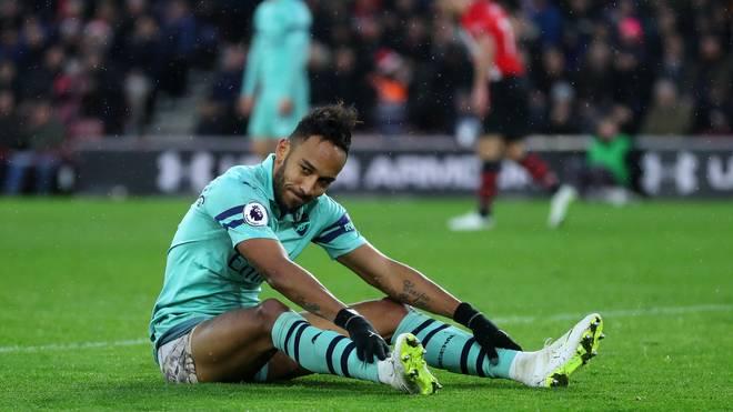 Pierre-Emerick Aubameyang verzeichnete in der ersten Hälfte gegen Liverpool lediglich sieben Ballkontakte