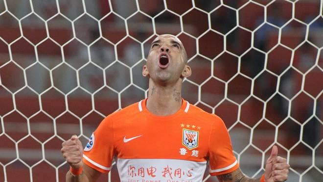 Diego Tardelli spielt seit 2015 für Shandong Luneng