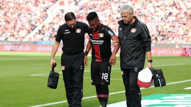 Wendell musste gegen Wolfsburg ausgewechselt werden