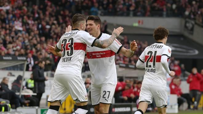 Daniel Ginczek erzielte nach Vorarbeit von Mario Gomez sein viertes Saisontor