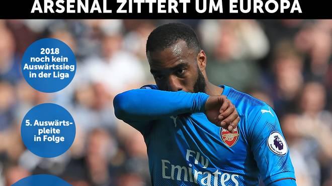 Ein Tor von Alexandre Lacazette reichte dem FC Arsenal nicht in Newcastle