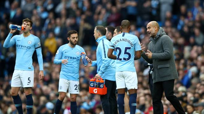 Manchester City v Southampton FC - Premier League mit Pep Guardiola