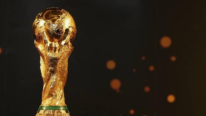 Das Objekt der Begierde: Der WM-Pokal wiegt knapp unter sieben Kilogramm