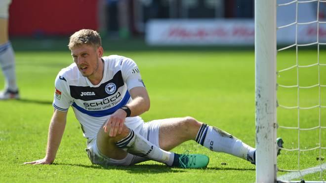 Fabian Klos kam mit Arminia Bielefeld nicht über ein Remis gegen Sandhausen hinaus