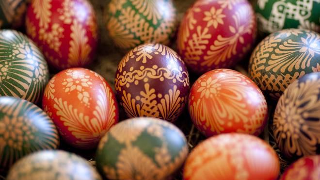 Sorbians Prepare Easter Eggs