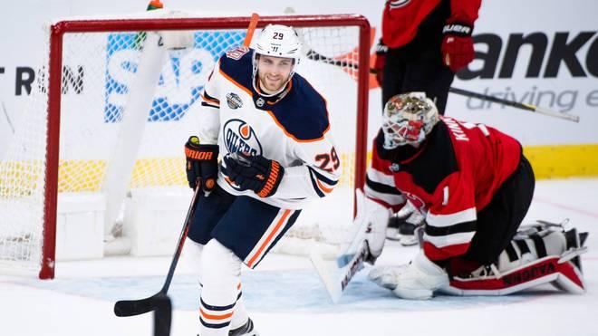 Leon Draisaitl traf gleich im ersten Saisonspiel für die Edmonton Oilers