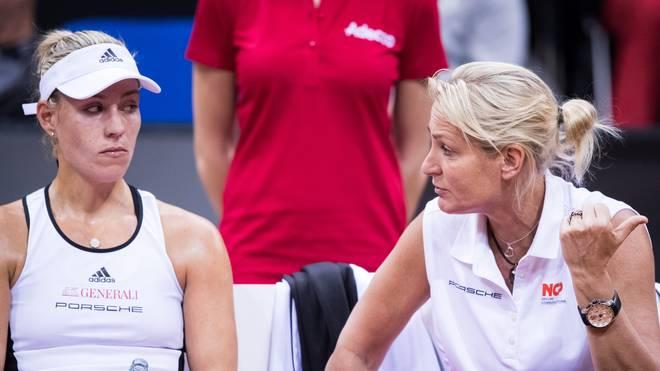 Barbara Rittner (r.) äußert sich positiv über Angelique Kerbers neuen Trainer Rainer Schüttler
