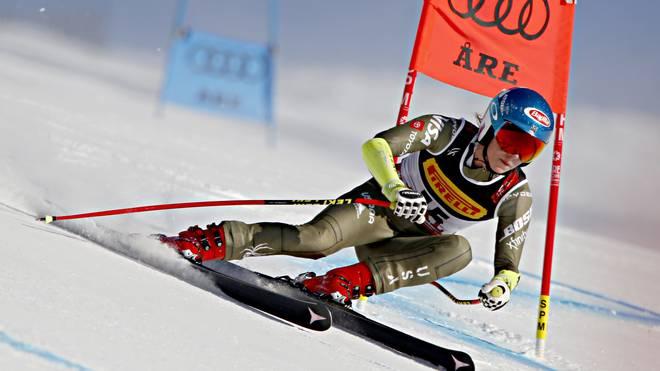Mikaela Shiffrin hat am Dienstag Gold im Super-G gewonnen