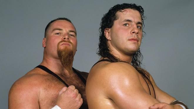 Jim Neidhart (l.) und Bret Hart bildeten die ursprüngliche Hart Foundation bei WWE