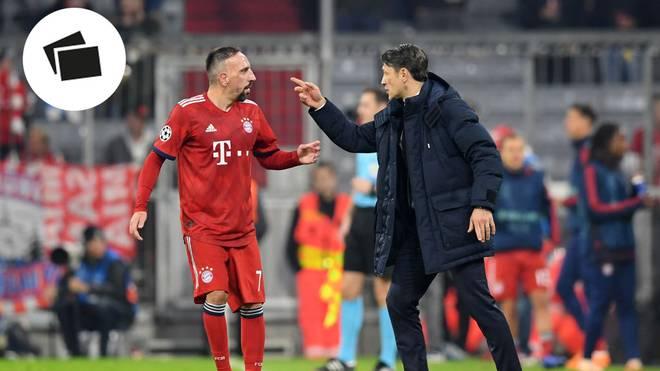 Franck Ribery (l.) erwischte gegen AEK Athen einen eher gebrauchten Tag