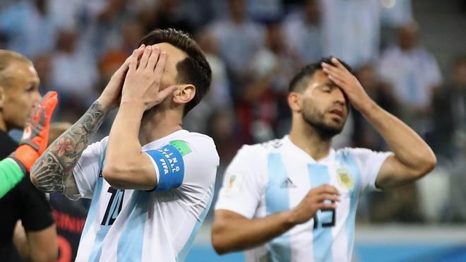 Lionel Messi und Sergio Agüero stehen mit Argentinien vor dem WM-Aus