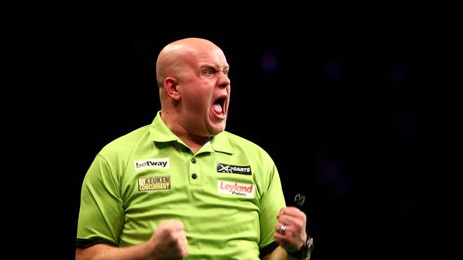 Michael van Gerwen in der Darts Premier League