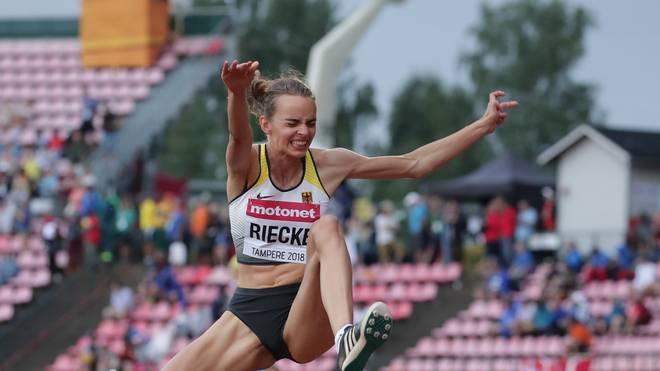Lea-Jasmin Riecke ist gewann Gold bei der Junioren-WM im Weitsprung
