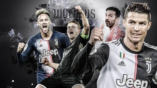Cristiano Ronaldo bekommt bei Juventus Gianluigi Buffon, Matthijs de Ligt und womöglich sogar Neymar (v.r.) zur Seite gestellt