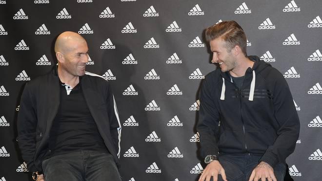 Zinedine Zidane (l.) und David Beckham waren Ikonen des europäischen Fußballs