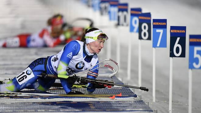IBU Biathlon Darya Domracheva Beim Biathlon werden Ausdauer und Präzision miteinander verbunden