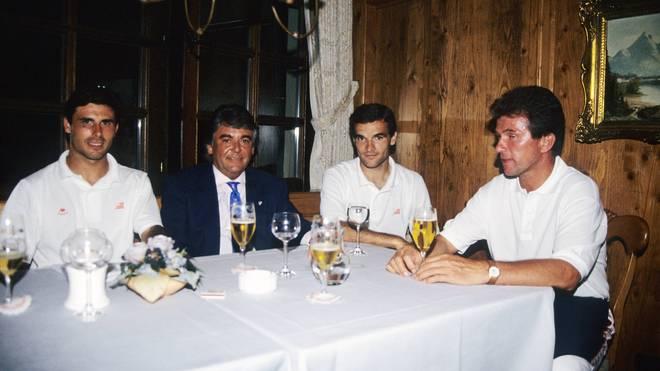 Barca-Coach Ernesto Valverde (2.v.r.) war unter Jupp Heynckes bei Bilbao Spieler und Co-Trainer
