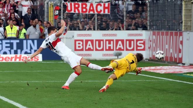 Mario Gomez erzielte im Derby gegen Freiburg zwei Tore