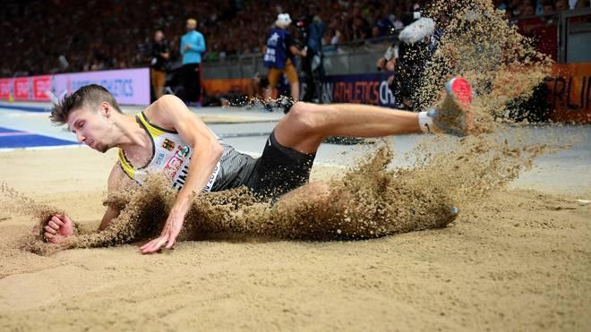 Fabian Heinle sprang am Mittwoch bei der Leichtathletik-EM zu einer Medaille