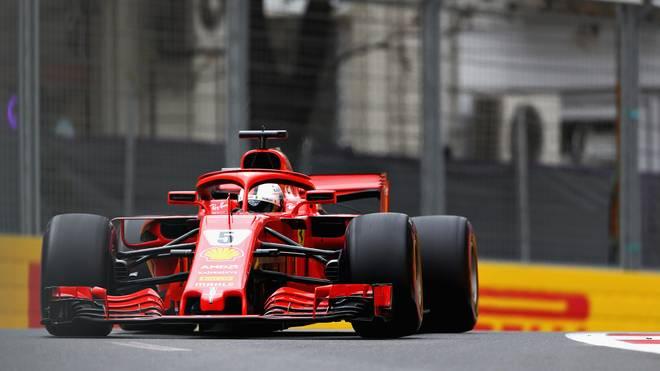 Sebastian Vettel fuhr der Konkurrenz beim Freien Training in Baku davon