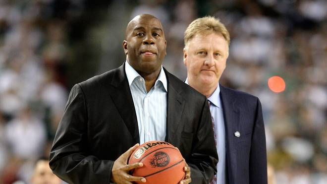 NBA: Ehrung für Larry Bird und Magic Johnson wegen Karriere