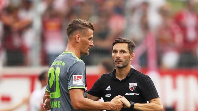 Stefan Leitl (r.) wurde am Samstag beim FC Ingolstadt entlassen
