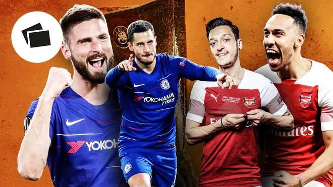 Europa League, Finale, FC Chelsea - FC Arsenal: Head-to-head