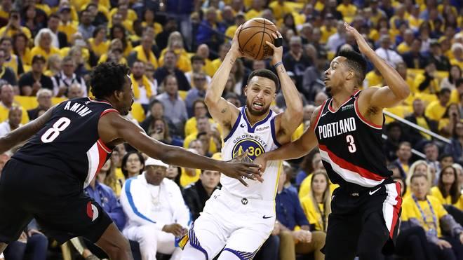 NBA, Playoffs: Golden State Warriors schlagen Portland - Curry stark