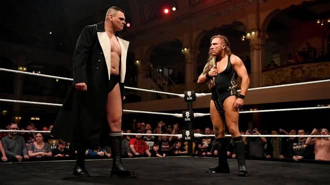 WALTER (l.) forderte bei WWE NXT UK TakeOver: Blackpool Pete Dunne heraus