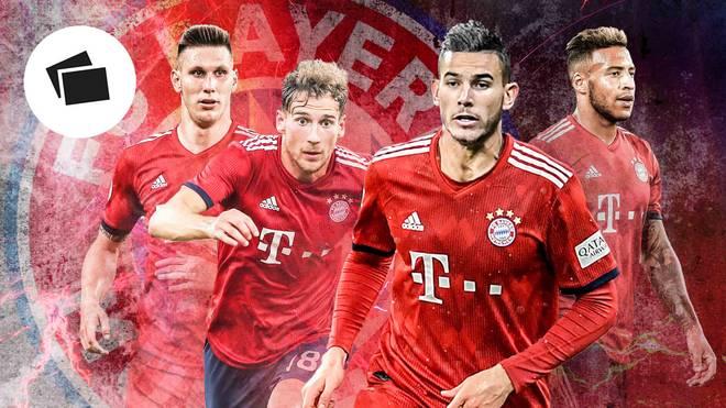 Lucas Hernandez (3.v.l.) und Co. gehört die Zukunft beim FC Bayern
