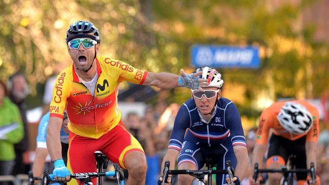 Alejandro Valverde entschied den Schlusssprint für sich