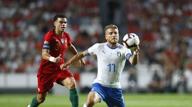 Ciro Immobile (r.) war gegen Portugal nur ein Schatten des Torjägers der Serie A