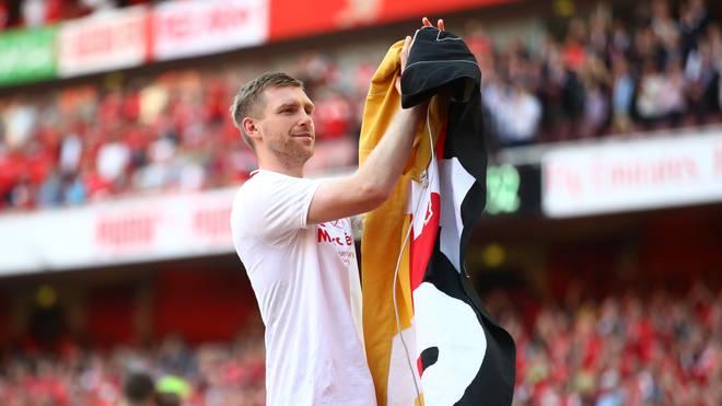 Per Mertesacker verabschiedete sich im Mai 2018 von den Fans im Arsenal-Stadion
