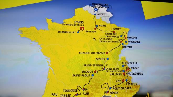 Die Tour de France 2019 beginnt im belgischen Brüssel