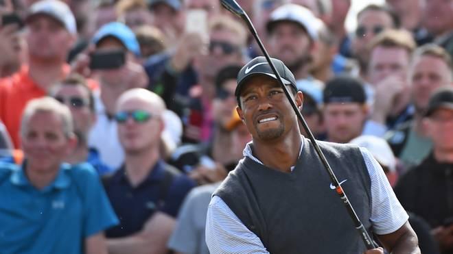 Tiger Woods liegt vor dem letzten Tag der British Open auf dem geteilten fünften Platz
