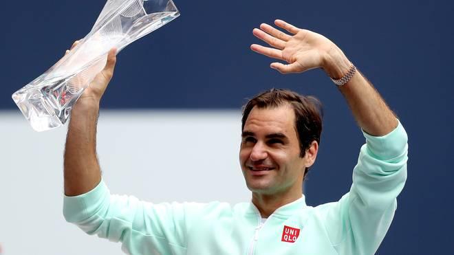 Miami Open 2019 Roger Federer mit Trophäe