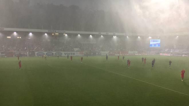 Die Partie in Heidenheim wurde nach zwölf Minuten unterbrochen