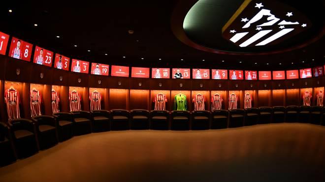 Die Kabine von Atletico Madrid ist luxuriös und geräumig