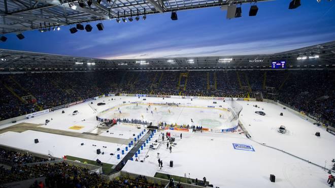 Winter Game in Dresden