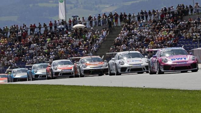 Julien Andlauer führte das Carrera-Cup-Feld am Sonntag ins Ziel