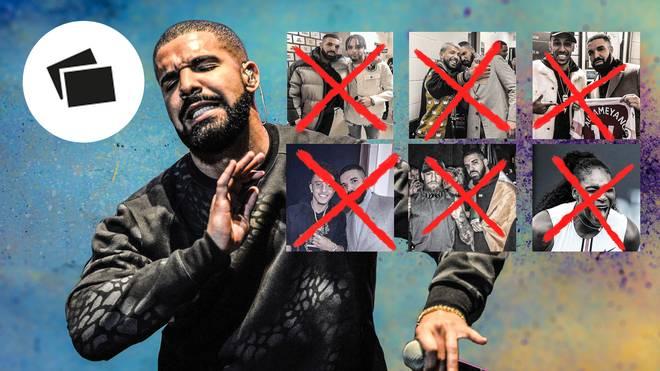 Die Unterstützung von Drake (links) brachte den meisten Sportstars herzlich wenig