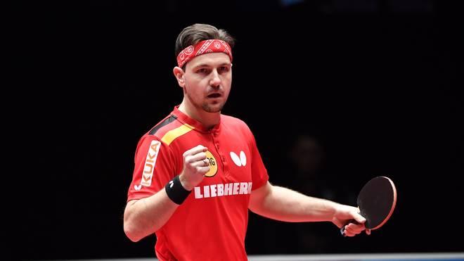 Timo Boll besiegte im EM-Finale Ovidiu Ionescu  aus Rumänien