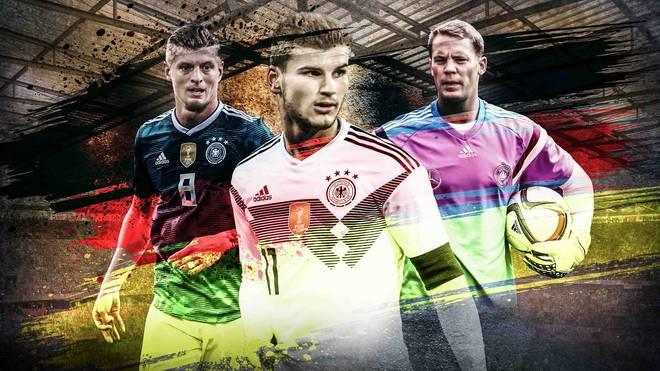 SPORT1 schaut sich das DFB-Team im Formcheck genauer an. Timo Werner (M.) zählt zu den Spielern in guter Verfassung