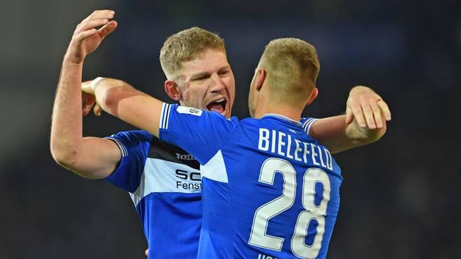 Fabian Klos machte gegen Dresden mit dem zweiten Tor den Deckel drauf